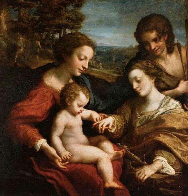 Louvre. Matrimonio mistico di Santa Caterina. 1526-27