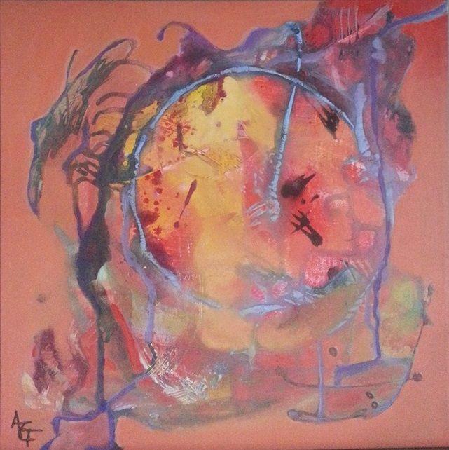 Orange 1, acrylic on canvas, 40 cm x 40 cm