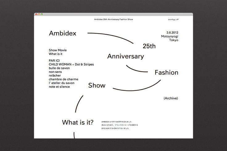 Ambidex 25th Anniversary Fashion Show Archive Website