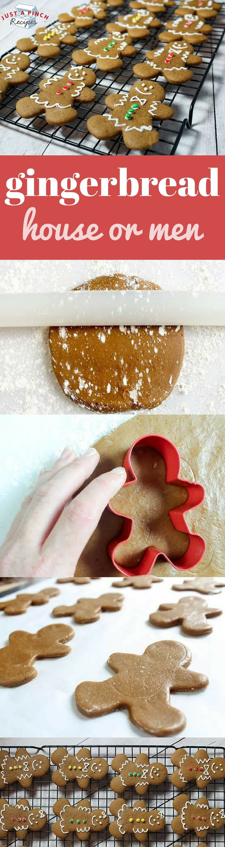 Homemade gingerbread house and homemade gingerbread cookie recipe! #christmas #christmascookies #cookies #cookierecipes #gingerbread #gingerbreadcookies #gingerbreadmen #gingerbreadhouse