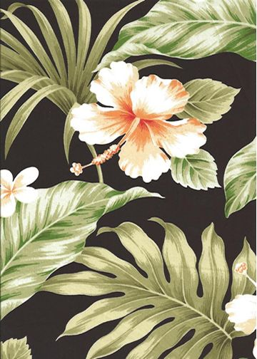 Vintage Tropical Barkcloth