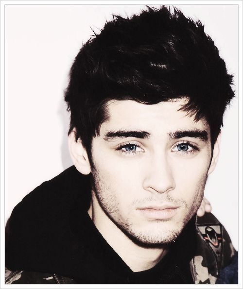 Zayn Malik. With blue eyes wow he looks like a high schooler that rides my bus now o_o