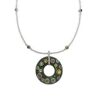 Judith Ripka Sterling Multi-Gemstone Necklace &Enhancer