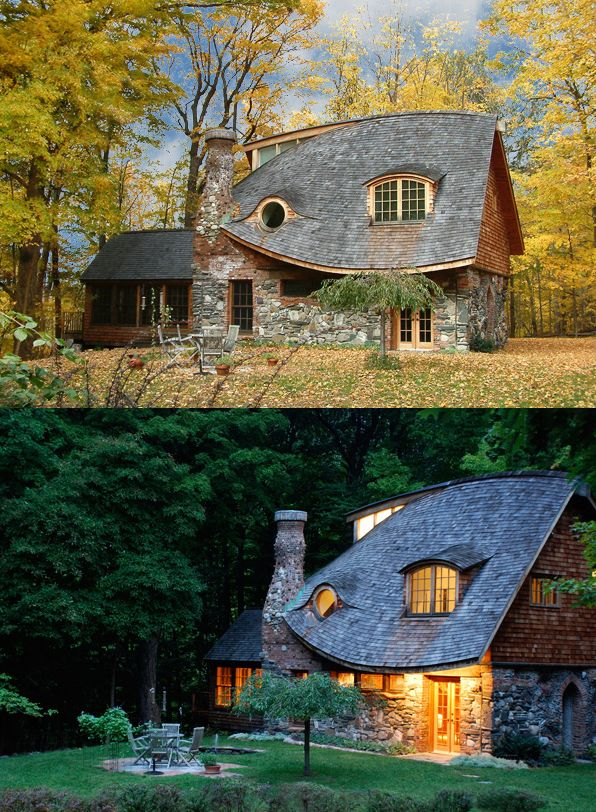 Love the roof. The storybook cottage of Rhinebeck, New York.