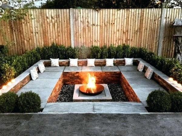 Backyard Fire Pit Area Awesome Landscaping