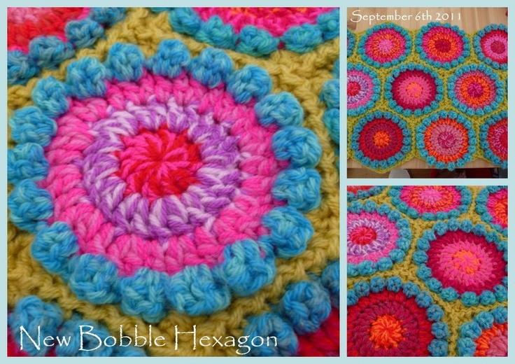 New Bobble Hexagon Pattern