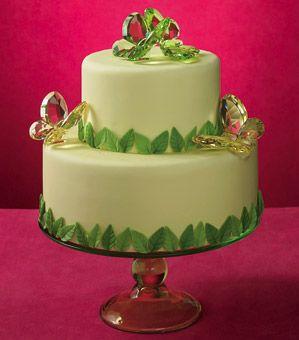 Wedding cake topper ideas - Swarovski butterflies.