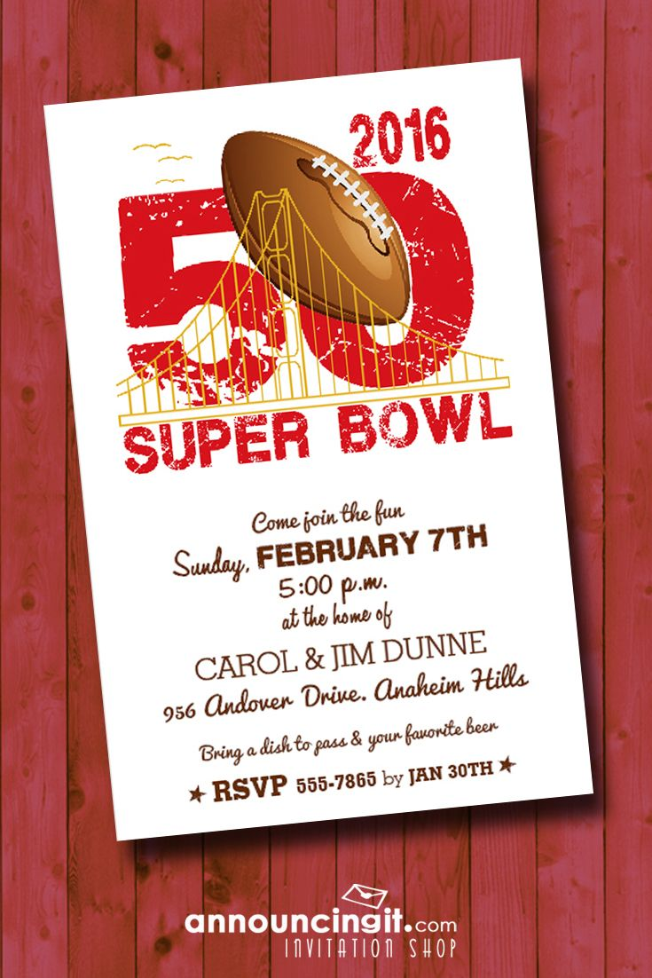 super bowl 50 party invitations come see our entire