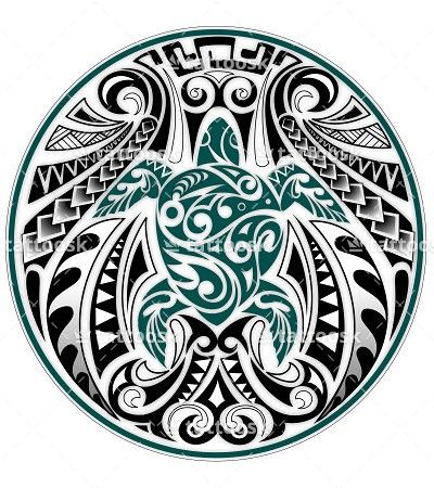 SBink Tribal Sea Turtle ❥❥❥ https://tattoosk.com/polynesian-turtle-tattoo