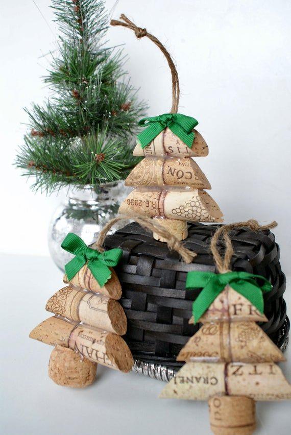 Christmas Tree Wine Cork Ornament Etsy Cork Crafts Christmas Wine Cork Crafts Christmas Wine Cork Christmas Tree