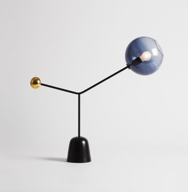 """Warm Up / Table Light by Matteo Zorzenon """"Pirouette"""" Exhibition 2013 Dimensione Danza Materials: Ceramic, Metal, Glass"""