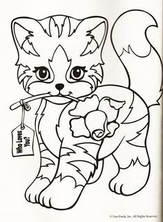 Lisa Frank Kitten Coloring Page