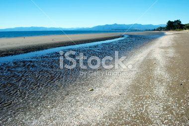 Pakawau Seascape, Collingwood, Golden Bay, New Zealand Royalty Free Stock Photo