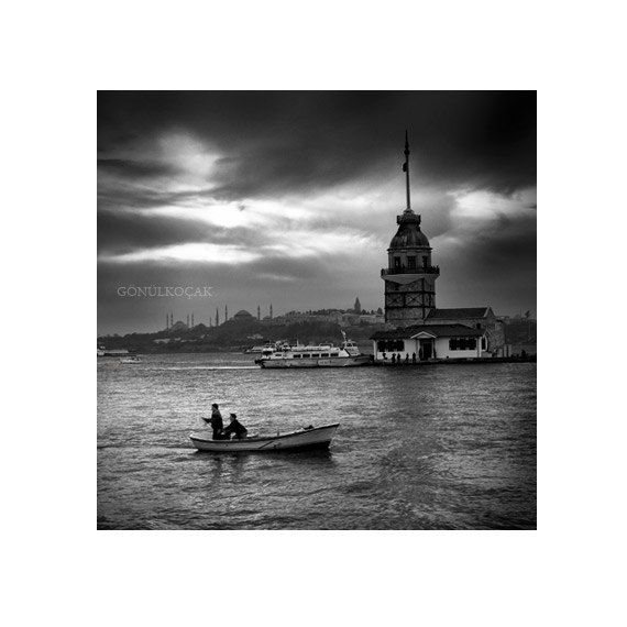 Wall decor  istanbul art  Black and White photography by gonulk, $50.00