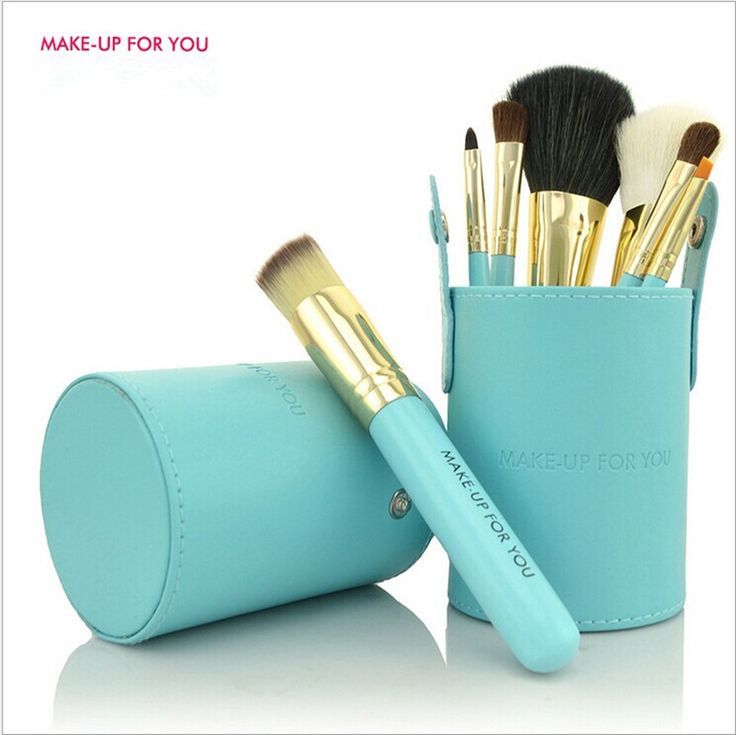MAKEUP FOR YOU Makeup Brushes Professional 7pcs Makeup Brush Set Foundation Powder Blush Make Up Tools Kit With Brush Holder