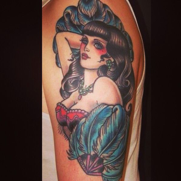 This burlesque tattoo is gorgeous                                                                                                                                                                                 More