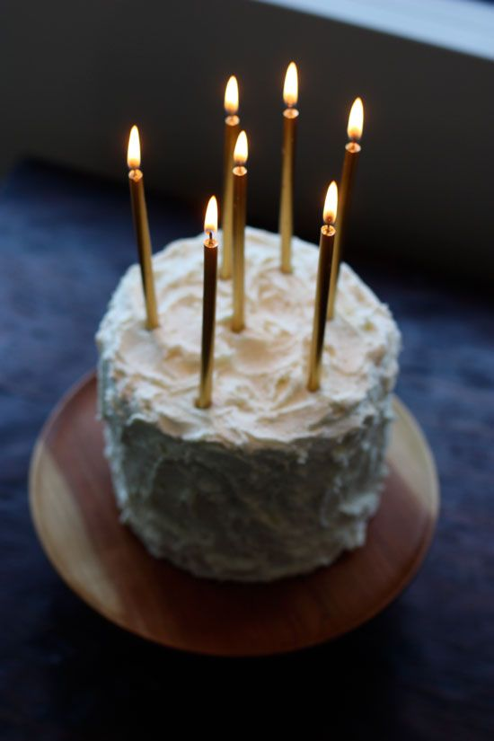 Candles on Cakes - An Alternative to Cake Toppers | onefabday.com