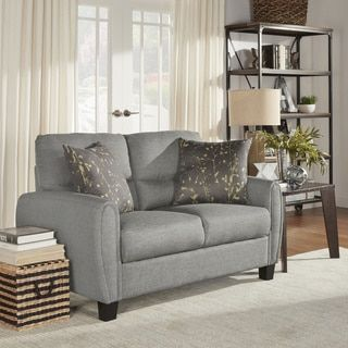 Shop For Dillion Urban Ellipse Arm Comfort Upholstered Loveseat By INSPIRE  Q. Get Free Shipping. Furniture OutletOnline ...