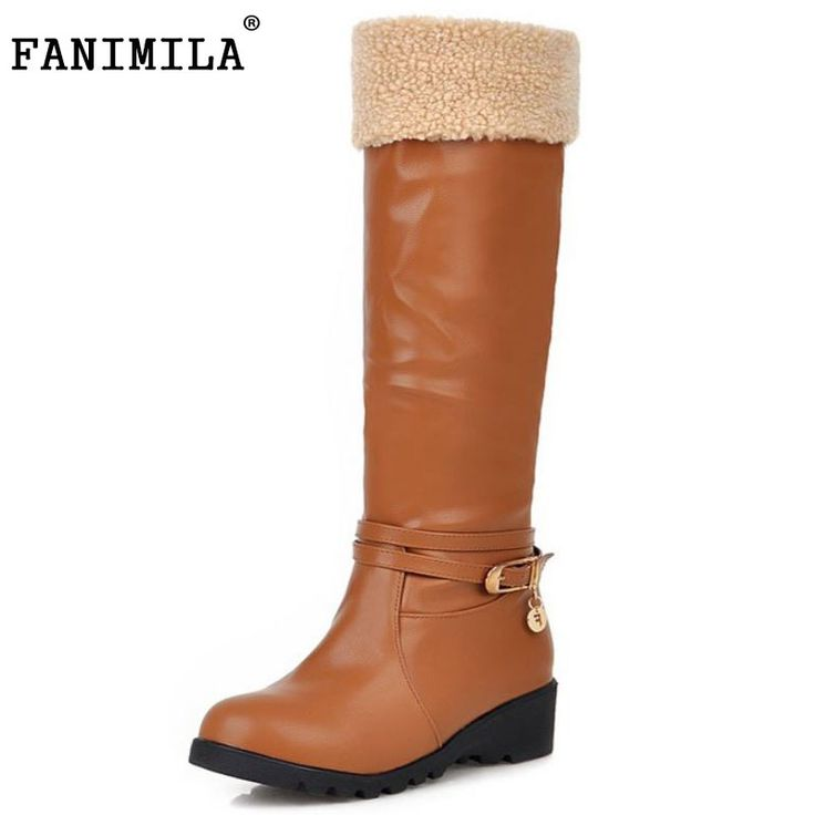 Gladiator Botas Women Low Heel Half Short Boot Fashion Warm Plush Winter Mid  Calf Snow Boots