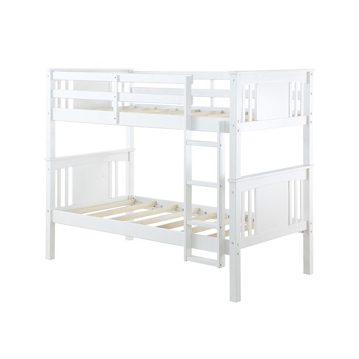 White wooden bunk beds are probably the firmest bunk beds you'll find, of course, there'll always be wood that isn't that durable but most of the times ...