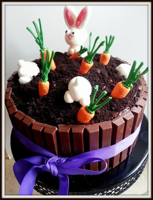 Easter kit kat cake.