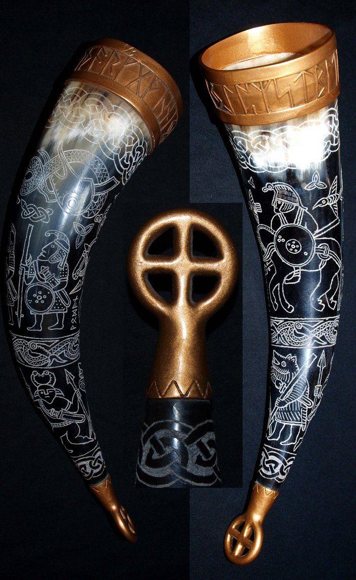 Viking drinkinghorn 2 by ~DarkSunTattoo on deviantART