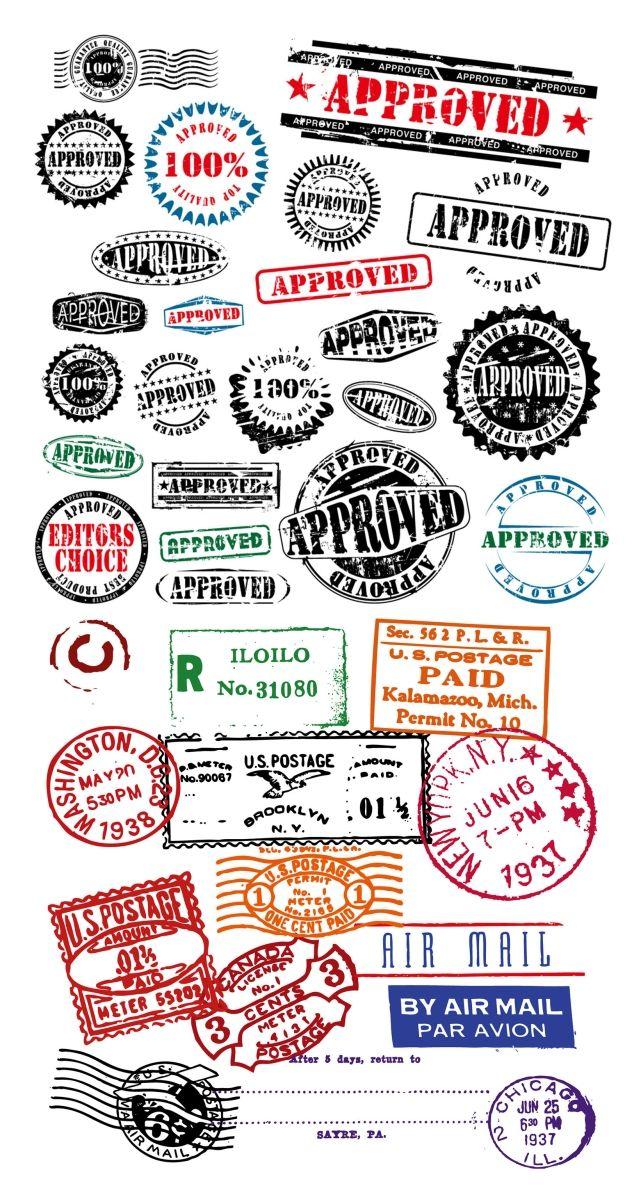 無料ダウンロード!世界各国の消印などのスタンプ素材集(商用可・AI・EPS) - Free-Style
