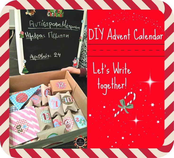DIY Advent Calendar κάνοντας εξάσκηση στη γραφή