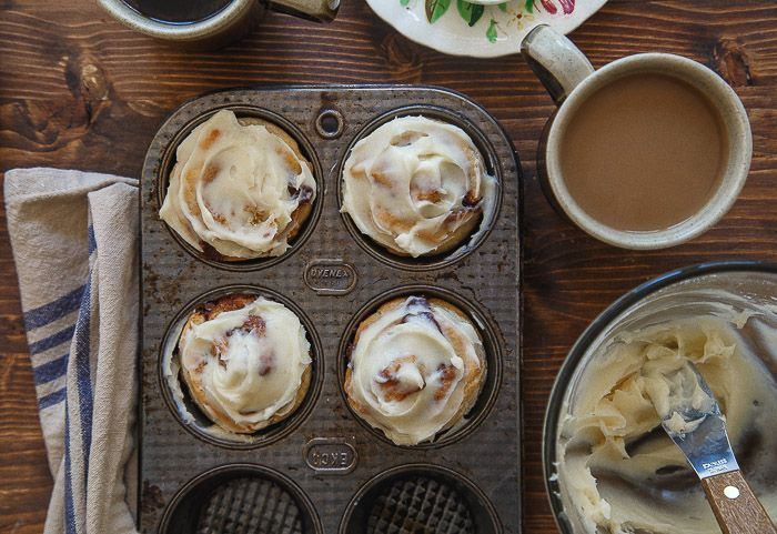 Small Batch Cinnamon Rolls & no yeast!