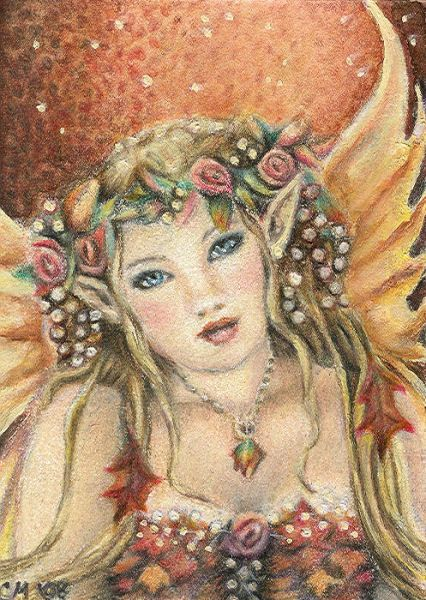 Autumn Rose - ACEO by Carol-Moore on DeviantArt