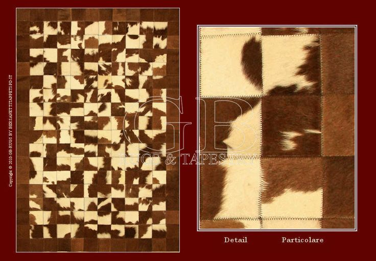 This carpet in cow leather is manufactured in Italy with select leather. It is a patchwork workmanship that allows to get the carpet uniting...