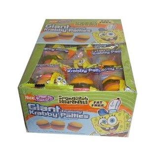 SpongeBob Squarepants Giant Gummy Krabby Patties (36 Count): Amazon.com: Grocery & Gourmet Food