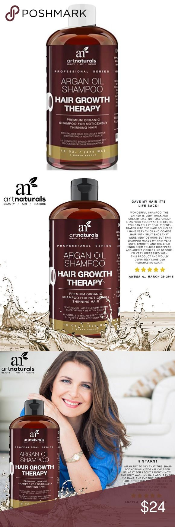 ✨NEW✨Hair Growth Shampoo w/Argan Oil ArtNaturals Art Naturals Organic Argan Oil Hair Loss Shampoo for Hair Regrowth 16 Oz - Sulfate Free - Best Treatment for Hair Loss, Thinning & Aging - Product For Men & Women - Infused with Biotin - 2016 Edition Art Naturals Makeup