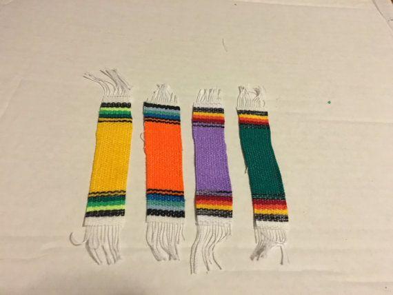 SP005 Mini Slim mexicaine Serape couverture Sarape doudou décoration fête Giveaway faveur Coaster