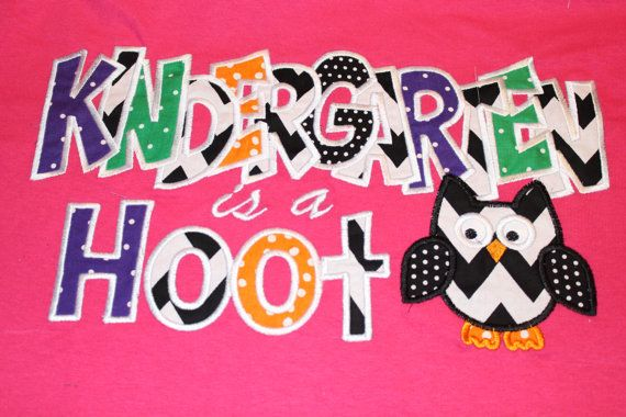 Kindergarten Shirt by RazzleDazzleMimi on Etsy, $23.00