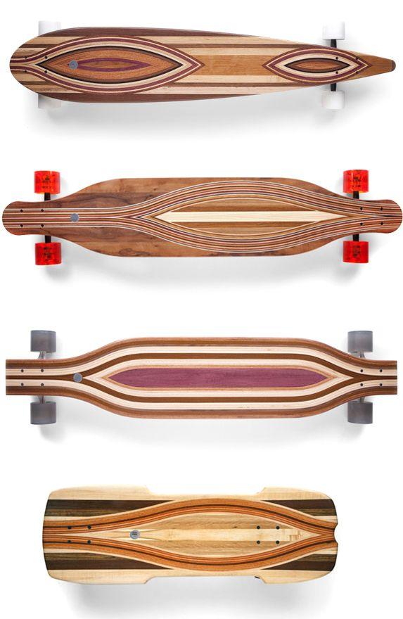 beautiful wood skateboards