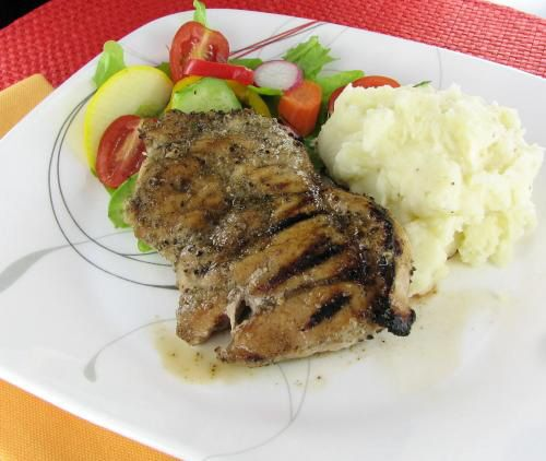 Beer Brined Grilled Pork Chops with Sage Rub - http://thegardeningcook ...