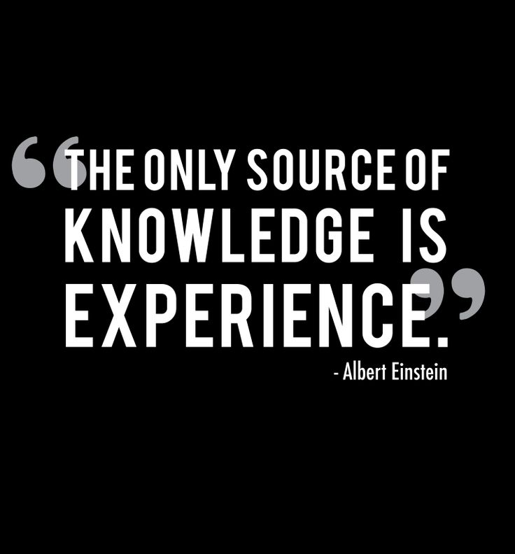Quotes About Experience: #knowledge #experience #quote