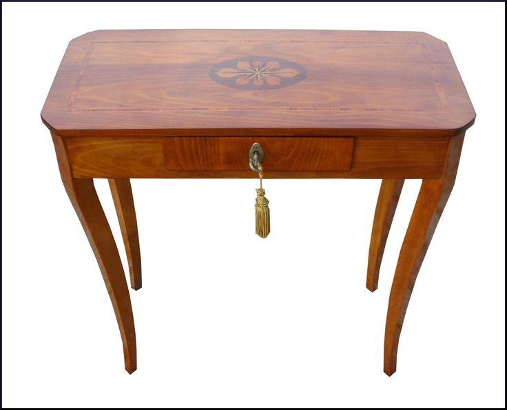 Tavolino consolle da ingresso con intarsio