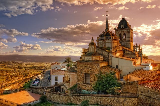Jerez de los Caballeros. Badajoz. Spain    Antigua fortaleza de caballeros templarios en Extremadura