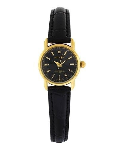 Miykon Dress Style Watch for Women Fashion Synthetic Leather And Gold Tone -W8 #Unspecified #Dress