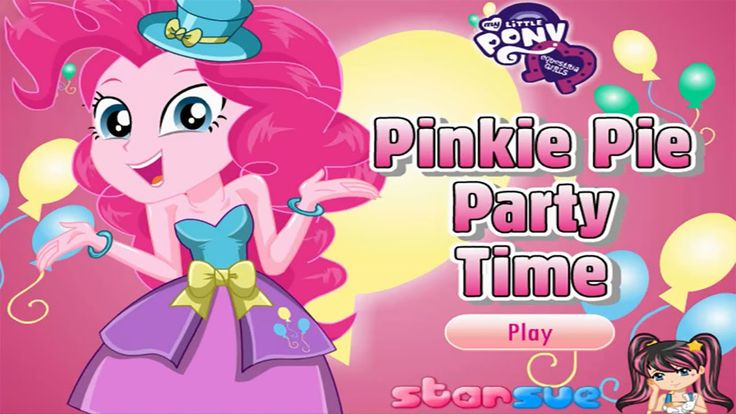 My Little Pony Equestria Girls Pinkie Pie Party Time - Dress Up Game [HD]