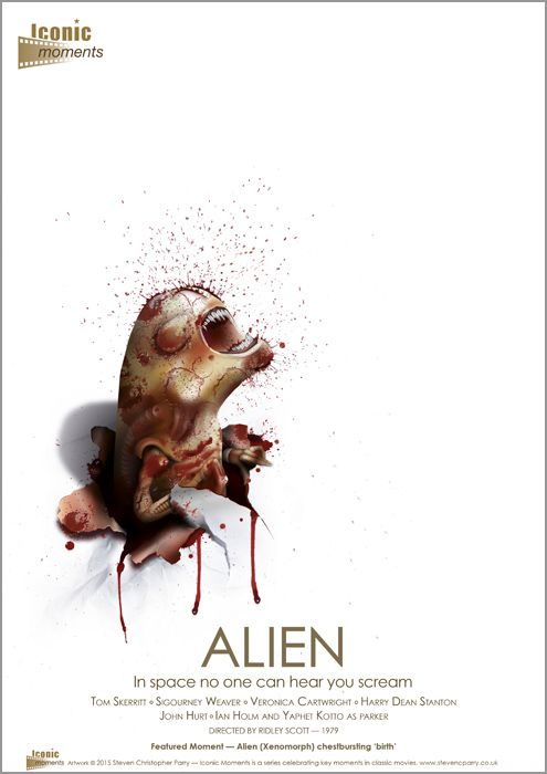 Iconic Moments Alien Poster