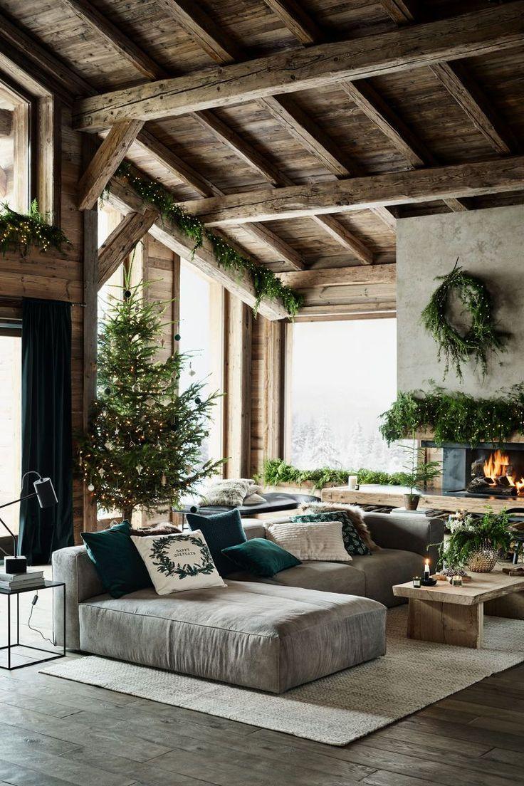 عکس تلفیق چوب و گیاهان طبیعی در دیزاین خانه