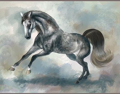 """Check out new work on my @Behance portfolio: """"Digitally painted horses"""" http://be.net/gallery/43423165/Digitally-painted-horses"""