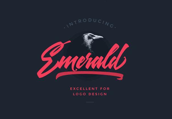 Emerald font #coolfont #handlettering