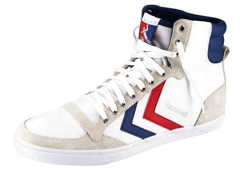 #Hummel #Damen #Slimmer #Stadil #Canvas #High #Sneaker #weiß Im Vintage-Look. High-top-Modell mit kontrastfarbener Sohle. Obermaterial in strapazierfähiger Canvas-Qualität.