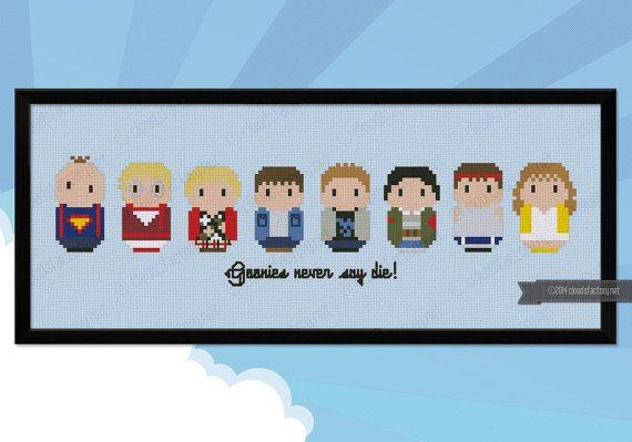 The Goonies parody Cross stitch PDF pattern by cloudsfactory