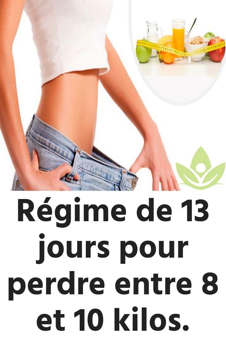 Régime de 13 jours pour perdre entre 8 et 10 kilos ...