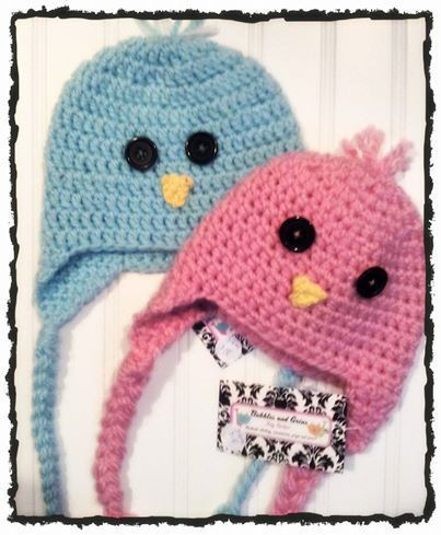 Hop into Spring with these adorable little crochet chick & chickadee hats! Available in Newborn-Adult sizes Colour Options: Robins Egg Blue, Princess Pink, Peep Yellow, Lovely Lavendar and Marshmallow White